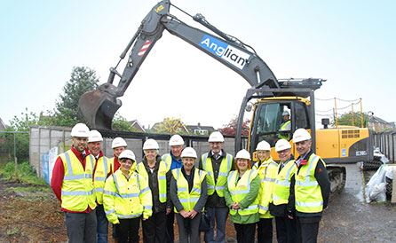 Demolition paves the way for new homes in Suffolk