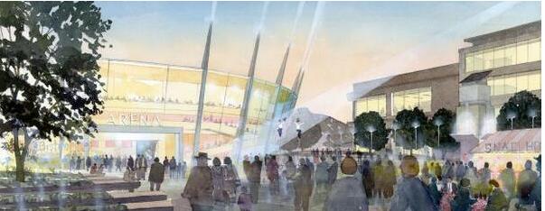 Five design teams shortlisted for Bristol's arena