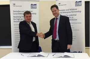 Nick Clegg signs £129m growth deal for Swindon and Wiltshire