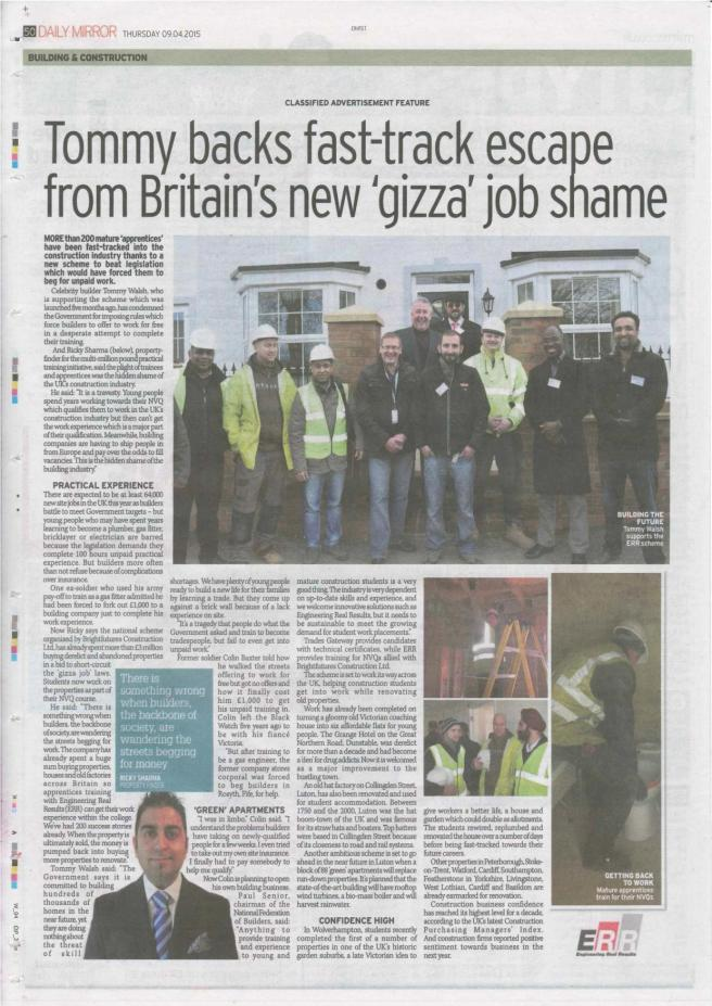 Tommy backs fast-track escape from Britain's new 'gizza' job scheme